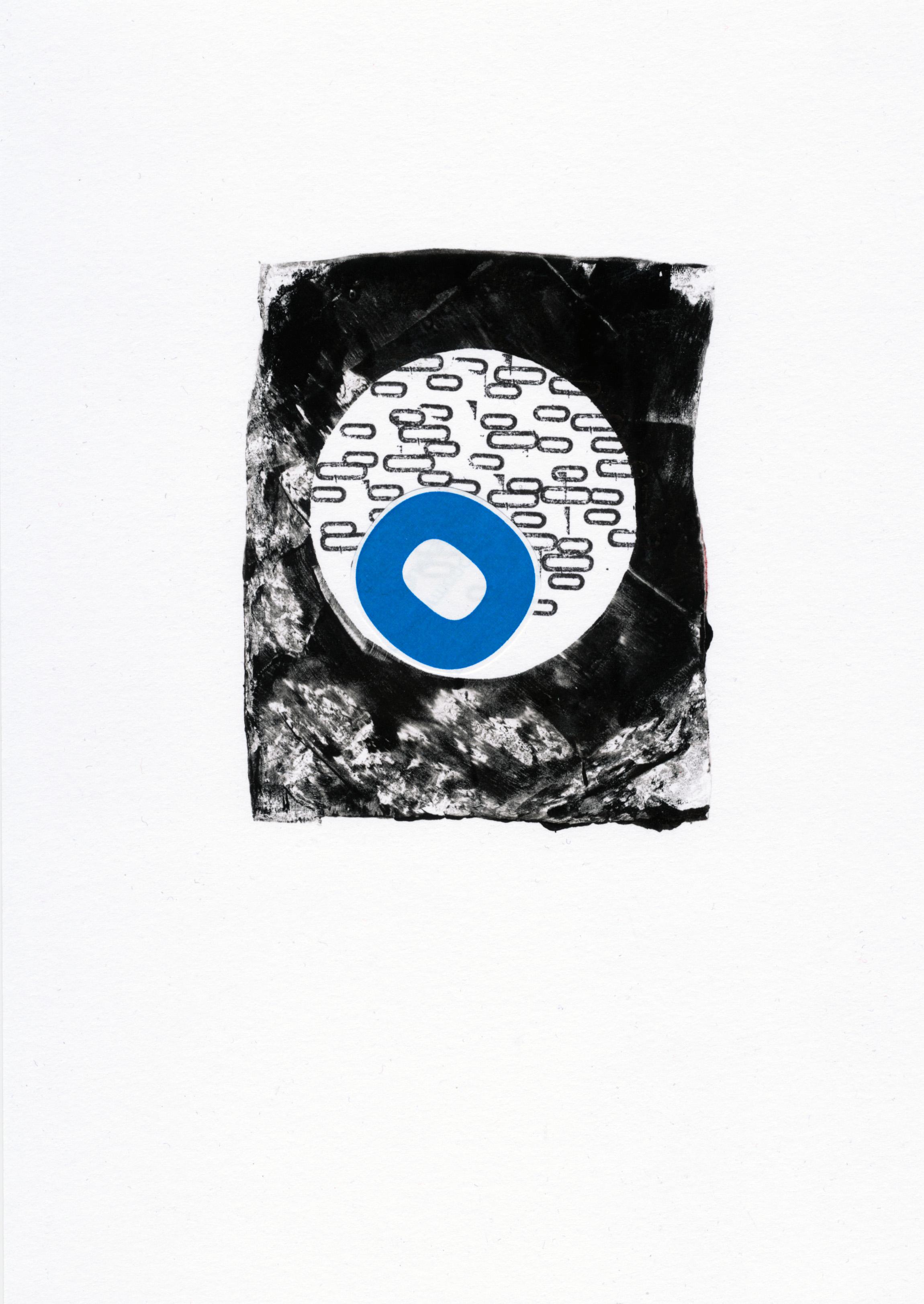 analogue collage gelliprint minimal waste