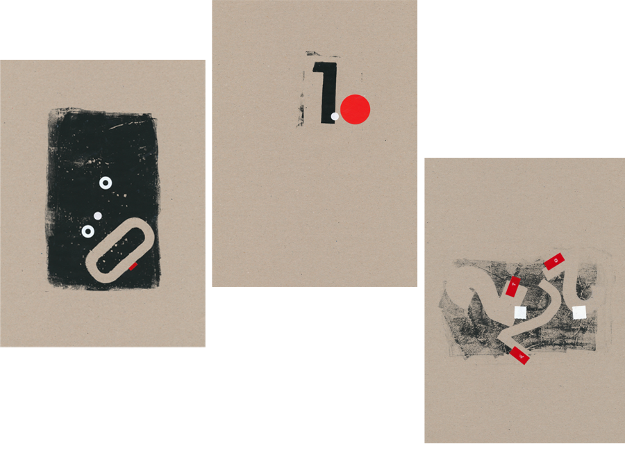 nine stories: an analogue collage series about numerals
